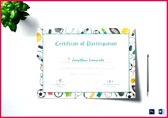sports participation certificate template day childrens certificates templates