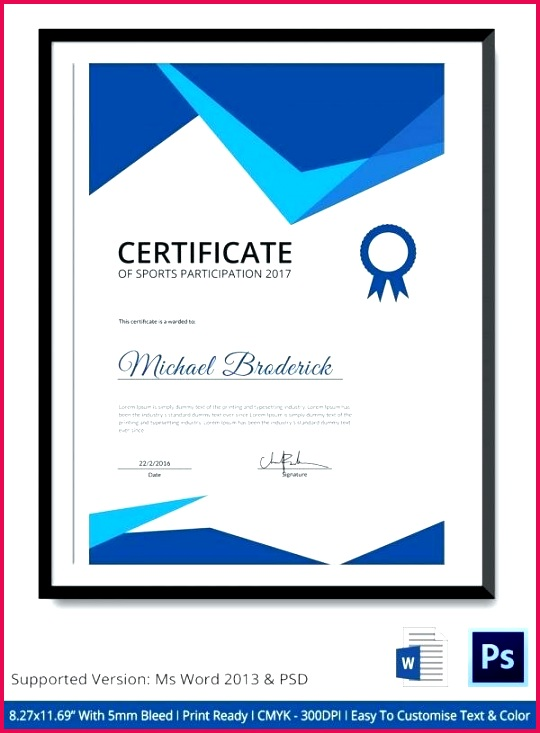 images of sports certificate participation template certificates templates design free