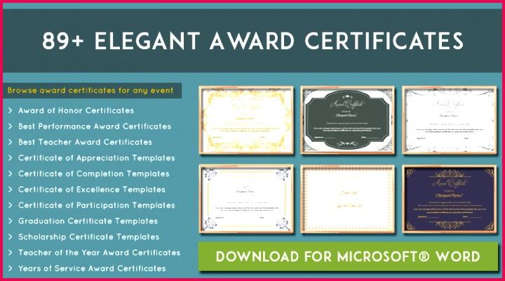More than 89 award certificate templates editable and printable 800x445