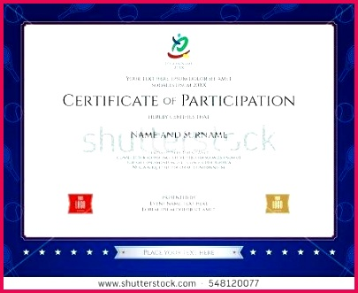 sport theme certification participation template conference certificate of format