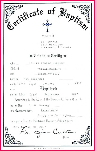 7 Templates For Baptism Certificates 53850
